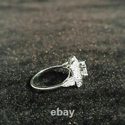 1.1 Ct Vintage Round Cut Art Deco Antique Engagement Ring 925 Sterling Silver