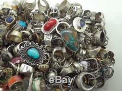 100 Gram Assorted Sterling Silver 925 Ring Lot Wholesale Resale Vintage Now