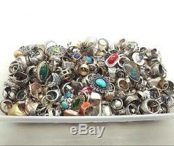 100 Gram Assorted Sterling Silver 925 Ring Lot Wholesale Resale Vintage-now