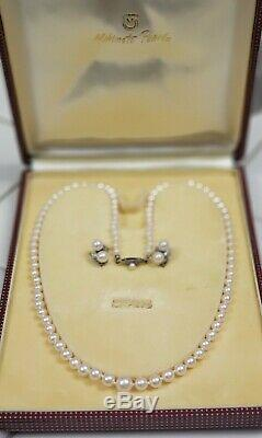 1950s Vintage Mikimoto Pearl Necklace