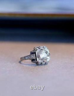 2.05 Ct Art Deco Vintage Edwardian Round Engagement Ring In 925 Sterling Silver