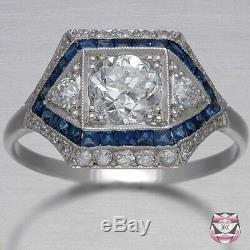 2.80 CT Vintage Art Deco White Diamond 925 Silver Engagement Anniversary Ring