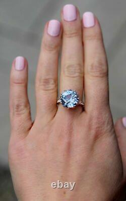 3CT Round Cut Tanzanite 14K Rose Gold Finish Engagement Wedding Vintage Ring