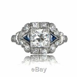 3Ct Round Diamond Vintage Victorian Antique Engagement Ring 14K White Gold Over