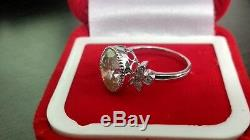 4.46 Ct Near White Oval Moissanite Vintage Engagement Ring 925 Sterling Silver