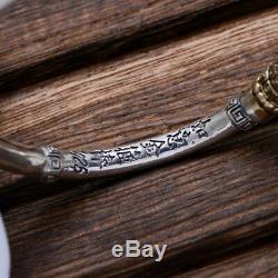 925 Sterling Silver Men Jewelry Vintage Cuff Bracelet Nordic Bangle Bracelet