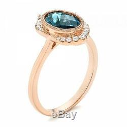 Antique Art Deco 2.50 Ct Oval Sapphire Vintage Edwardian Wedding Ring 925 Silver