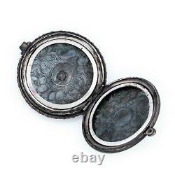 Antique Vintage Art Nouveau 925 Sterling Silver Chased Pocket Watch Case Pendant