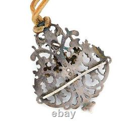 Antique Vintage Georgian Sterling Silver Gold Wash Neo Classical Cherub Necklace