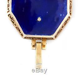 Antique Vintage Nouveau Sterling 88 Silver Russian Enamel Diamond Ruby Pendant