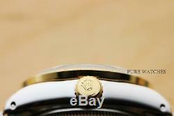 Authentic Ladies Rolex Quickset Two Tone 18k Yellow Gold Diamond & Steel Watch