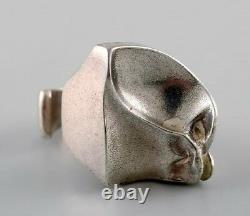 Björn Weckström, Lapponia, Finland. Vintage modernist ring in sterling silver