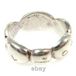 CHANEL CC Logos Ring Silver SV925 Size 6 Vintage Accessories 01648