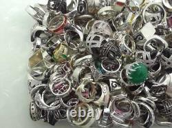 D 100 Gram Assorted Sterling 925 Silver Ring Lot Wholesale Resale Vintage-now
