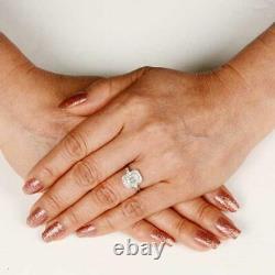 Engagement Trandy Milgrain Vintage Art Deco Ring 2Ct Diamond 14K White Gold Over