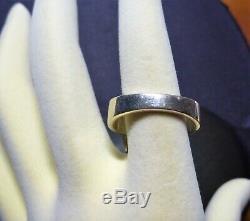 Fabulous Vintage Estate Sterling Silver Large Oval Citrine Set Cocktail Ring