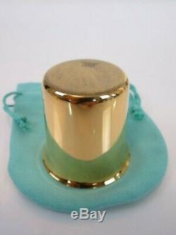 Fine Vintage Tiffany & Co Vermeil Sterling Silver Liquor Shot Cup & Pouch