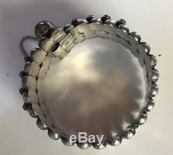 Great 1940's Vintage Mexican Sterling Silver Amethyst Bracelet