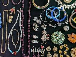 Huge Estate Jewelry Lot 14K Gold Sterling Silver Gemstone Brighton Givenchy Vtg