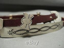 Important Yellowhorse Vintage Navajo Hat Concho Belt Sterling Silver Band