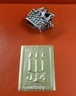 James Avery Vintage & Very Rare Retired Sterling Silver Picnic Basket charm