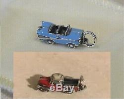 James avery (two) charms enamel vintage truck & enamel vintage car silver