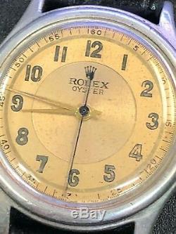 Men's Vintage Rolex Tudor Oyster Watch Sterling Silver