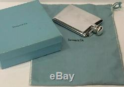 Mint! Vintage Tiffany & Co. Sterling Silver Rare Whisky Liquor Pocket Flask