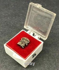 NASA Snoopy Tie Tack Pin Apollo Space Flight Awareness Sterling Silver Vintage
