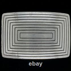 Navajo Sterling Silver Shades West Scottsdale Dale Begaye Vintage Belt Buckle