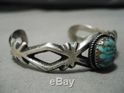 Rare Vintage Navajo Royston Turquoise Sterling Silver Bracelet