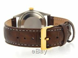Rolex Datejust 16013 Mens Stainless Steel 18K Gold Watch Champagne Dial Brown
