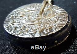 Sterling silver vintage Victorian antique chatelaine chain pencil notebook