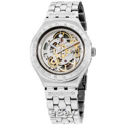 Swatch Irony Body & Soul Silver Dial Stainless Steel Men's Watch YAS100G