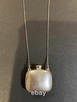 Tiffany & Co Elsa Peretti Square Bottle Necklace 25 Sterling Silver Vintage
