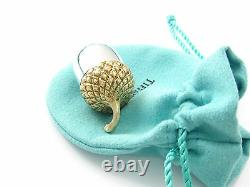 Tiffany & Co RARE VINTAGE Sterling Silver Acorn Pill Box