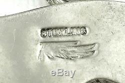 VINTAGE Tracey, Navajo. 925 Sterling Silver Medicine Bear Pendant Necklace 24.5