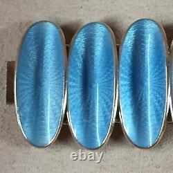 VTG David Andersen Norway Sterling Silver Guilloche Enamel Bracelet 7
