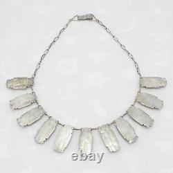 Vintage 1940s Early Mexican Sterling Silver Domed Link Necklace