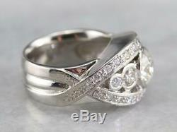 Vintage & Antique Art Deco Engagement Ring 4Ct Round Diamond 14k White Gold Over