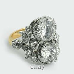 Vintage Art Deco 3.4 Ct White Round Diamond Antique Engagement Promise Gift Ring