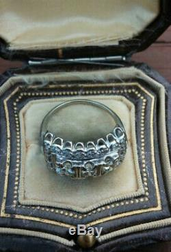 Vintage Art Deco Ring Engagement Ring 3 Ct Diamond Edwardian Ring 14K Gold Over