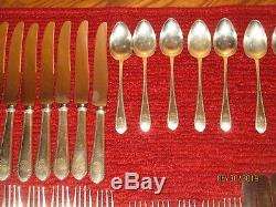 Vintage Elegant Sterling Silver Treasure Flatware set 52 Pieces, great shape RDB