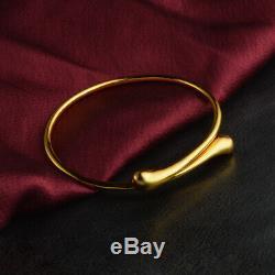 Vintage & Estate New Style 18k Yellow Gold Over 7.5 Bangle Bracelet For Unisex