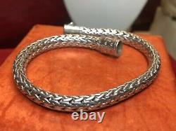 Vintage Estate Sterling Silver Bracelet Designer Signed John Hardy Braided