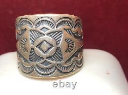 Vintage Estate Sterling Silver Native American Ring Band Stamped Southwestern