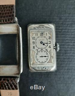 Vintage Gruen Techni-Quadron Sterling Silver Doctors Watch Rolex Prince 1930's