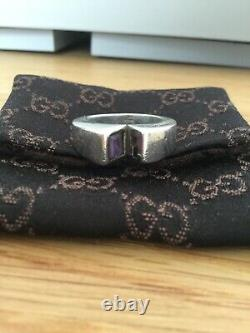 Vintage Gucci Amethyst Sterling Silver Fully Hallmarked Ring