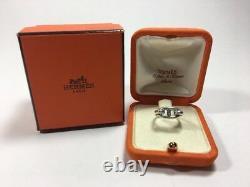 Vintage HERMES Sterling Silver H Charm Farandole Chaine d'Anecre horse bit Ring