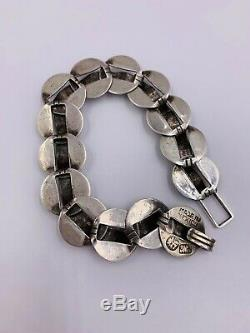 Vintage Hector Aguilar Taxco Mexico Sterling Silver Bracelet No Reserve